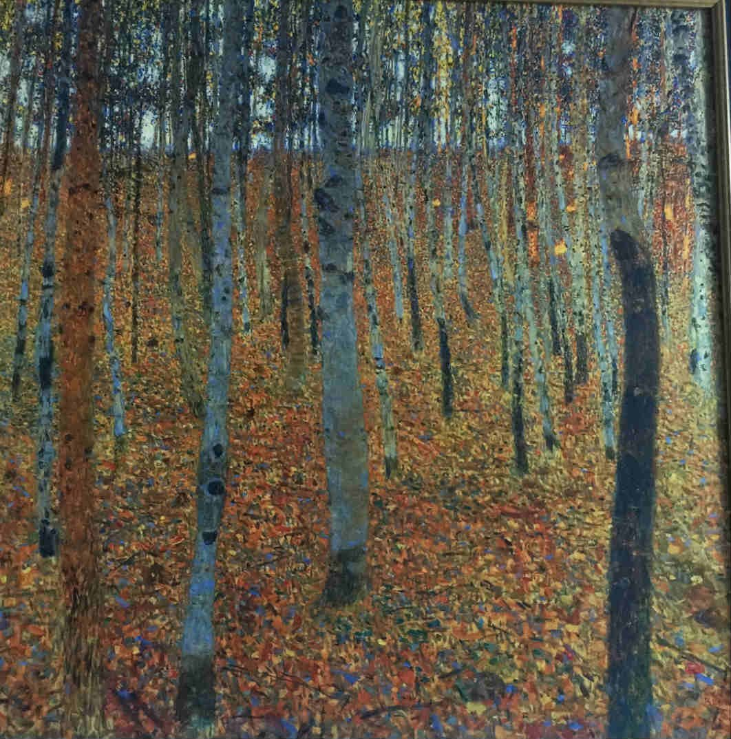 Oil paintings fall in the woods
