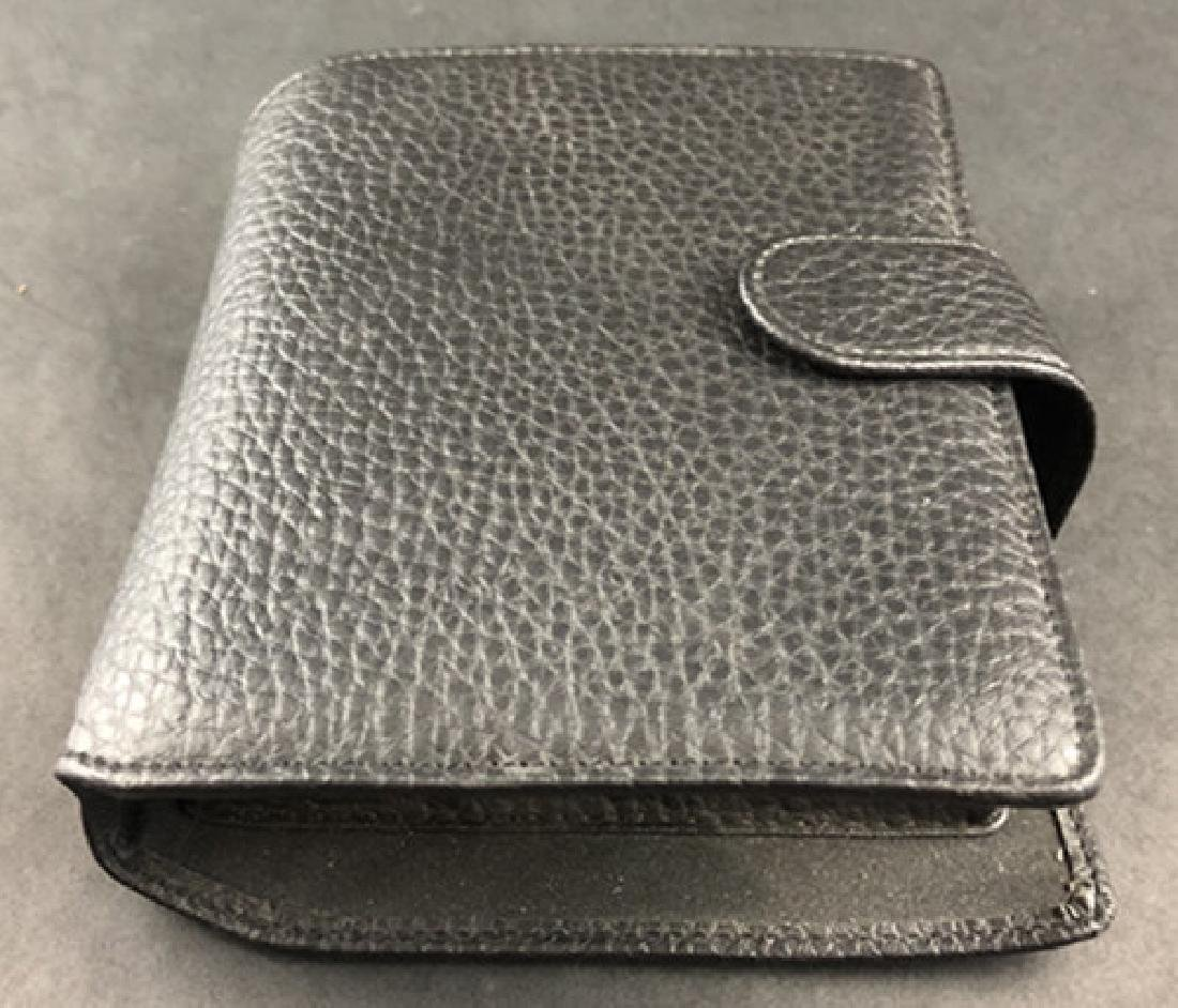 Leather wallet and hip flask