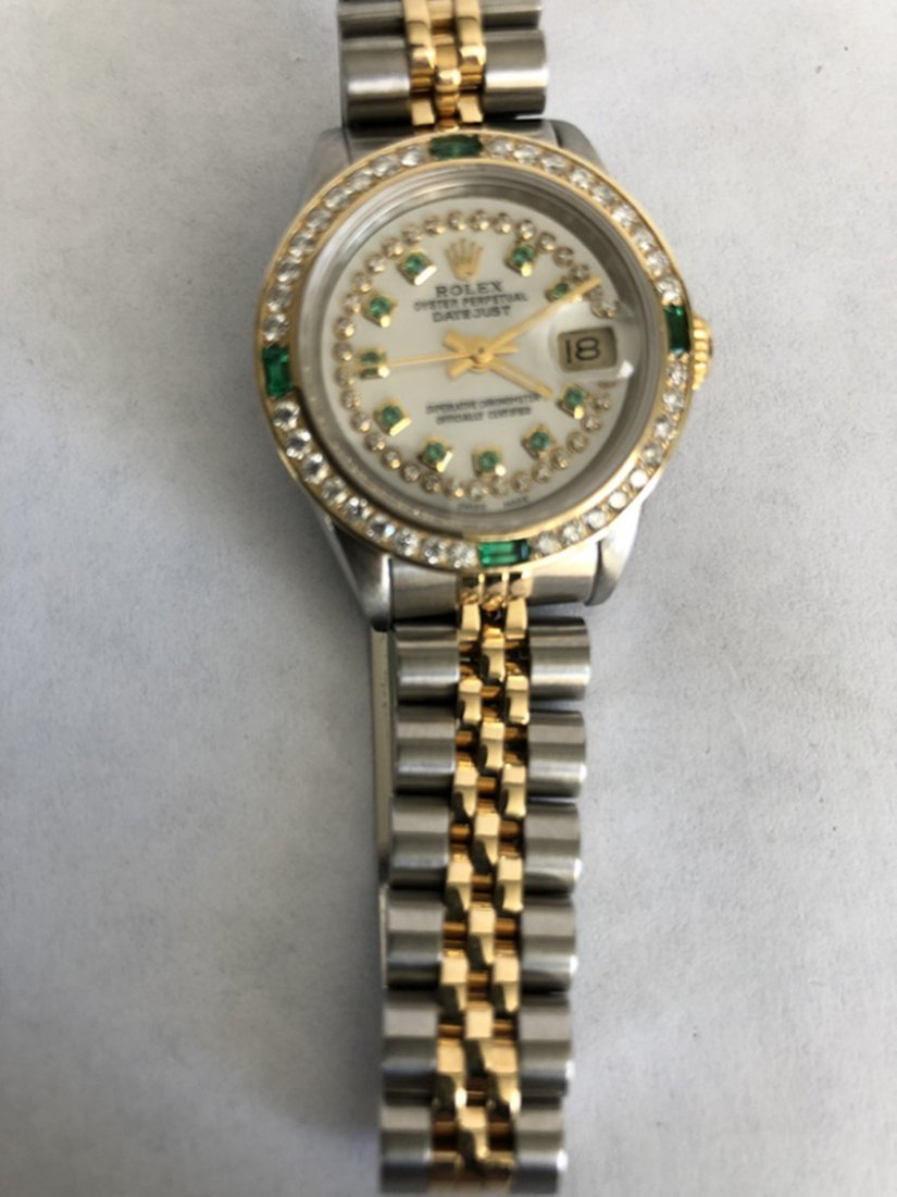 Rolex YG / ss DateJust Diamond Ladies Watch - 2