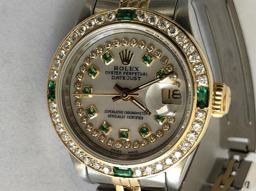 Rolex YG / ss DateJust Diamond Ladies Watch - 3