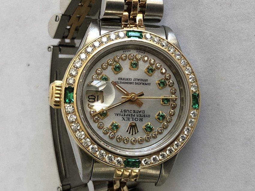 Rolex YG / ss DateJust Diamond Ladies Watch - 4