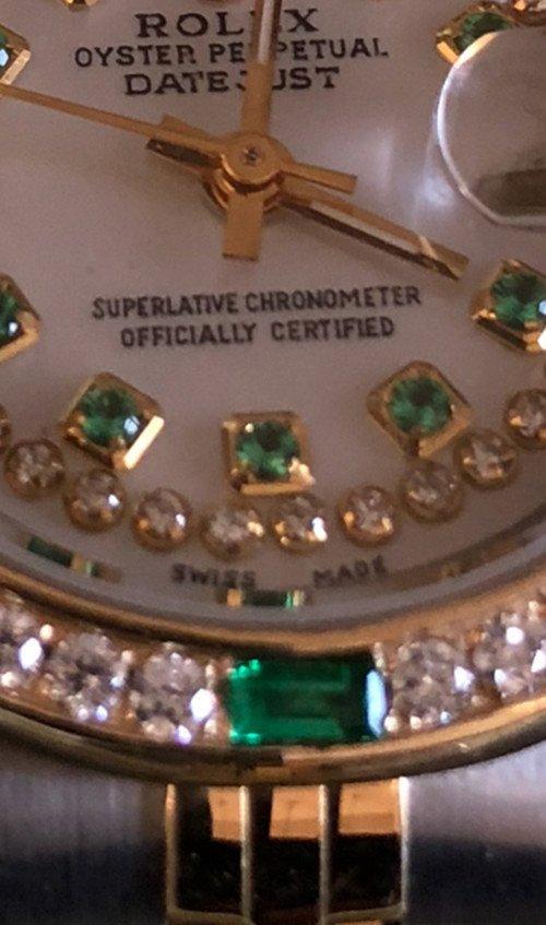 Rolex YG / ss DateJust Diamond Ladies Watch - 5