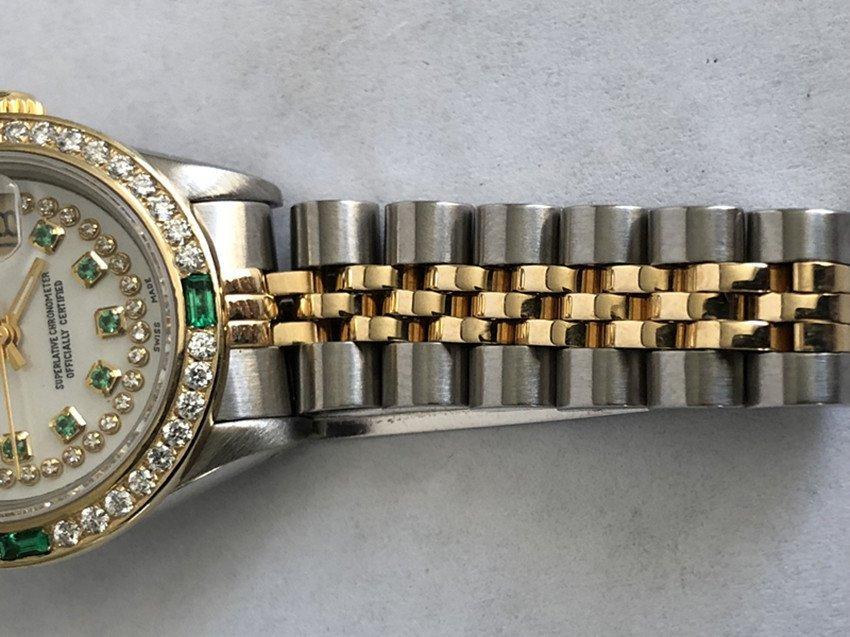 Rolex YG / ss DateJust Diamond Ladies Watch - 6