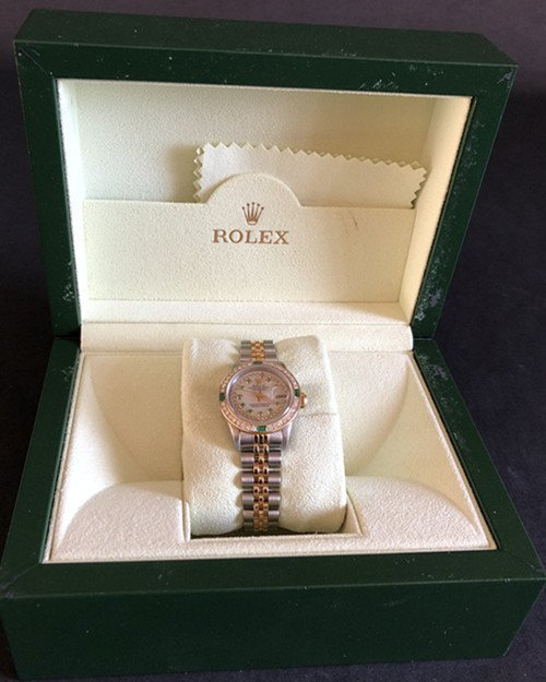 Rolex YG / ss DateJust Diamond Ladies Watch - 9