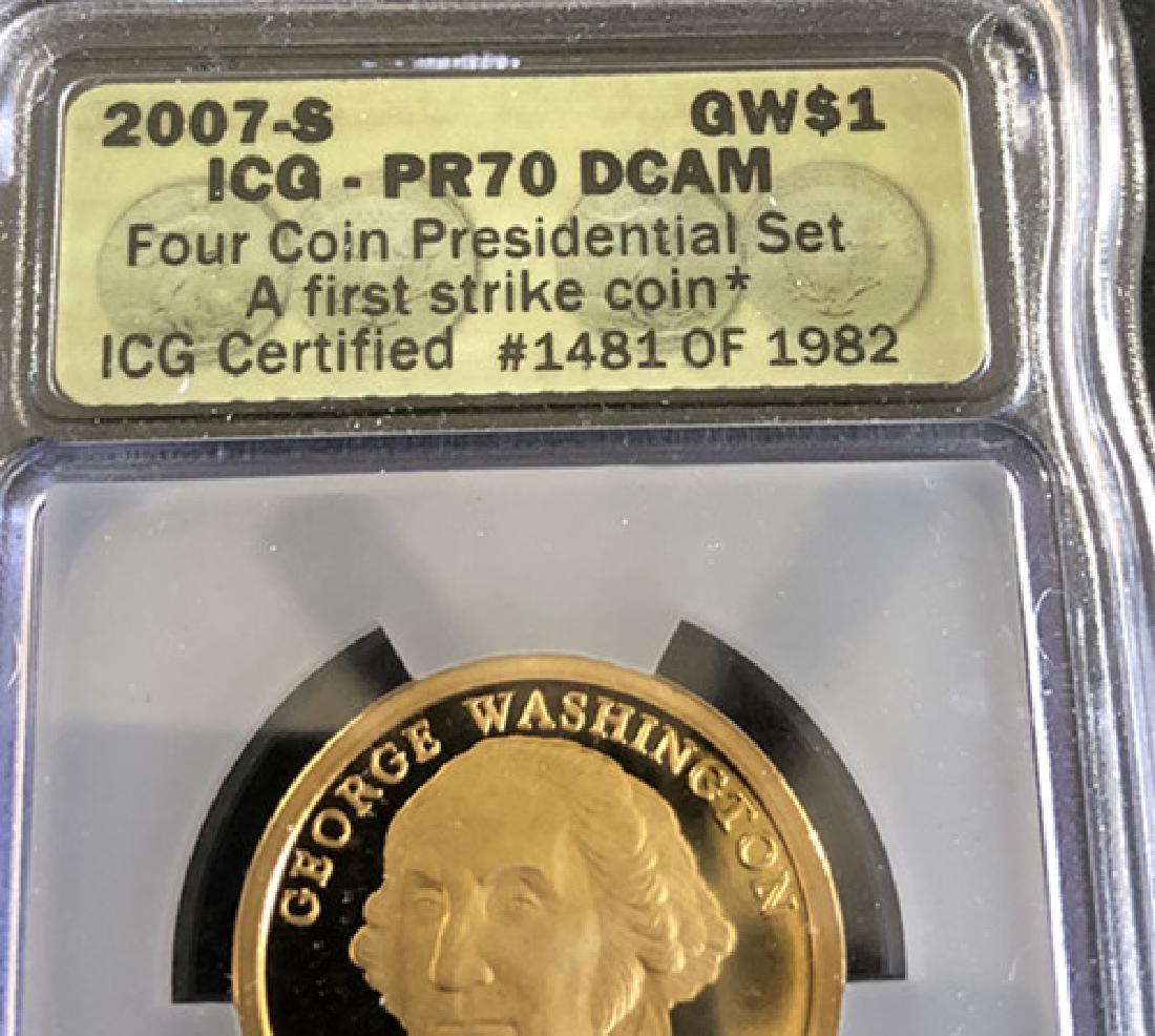 Washington avatar commemorative gold coins - 3