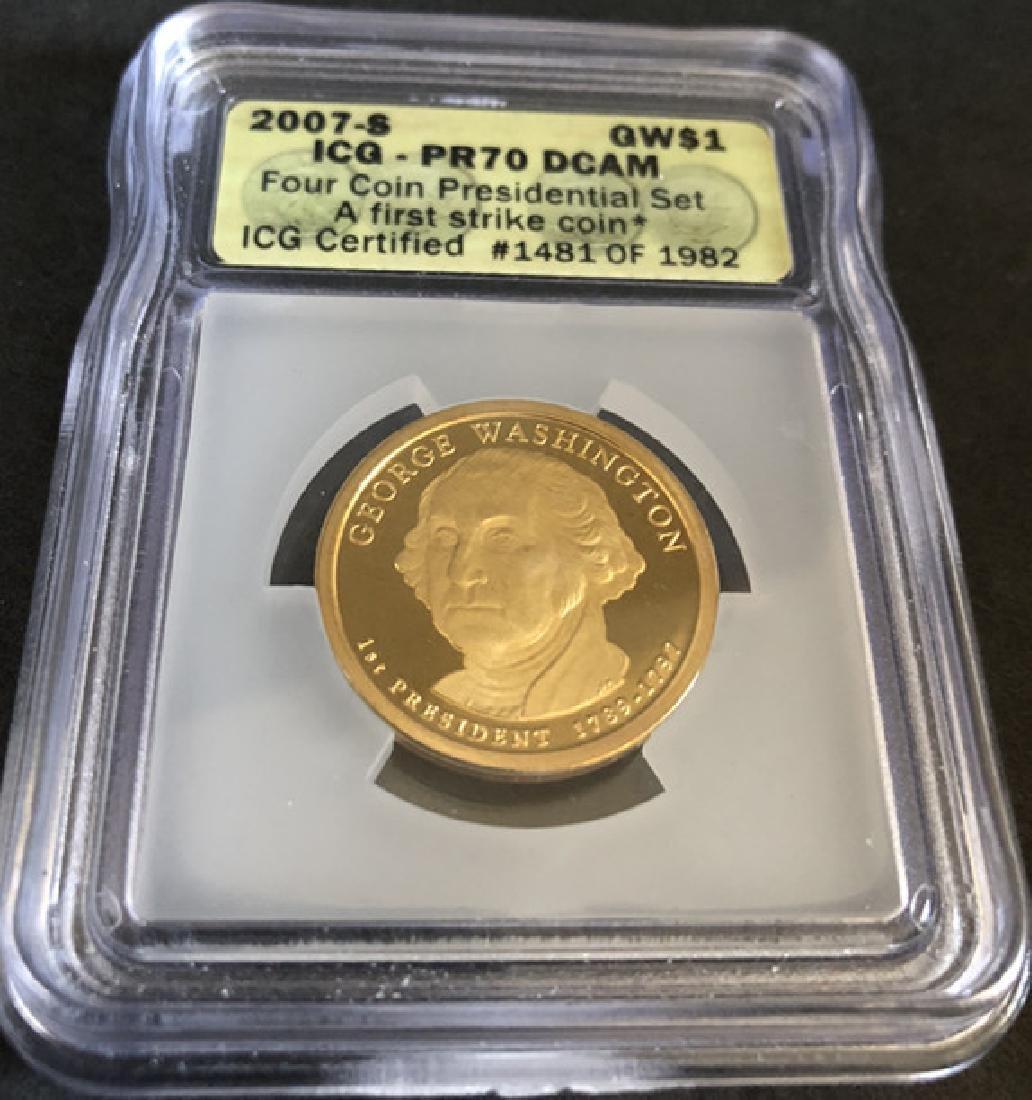Washington avatar commemorative gold coins - 5