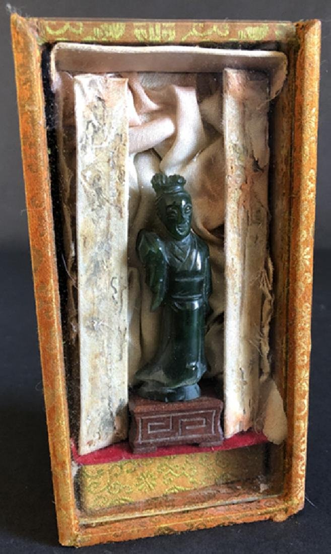 Qing Dynasty, jade carved ladies