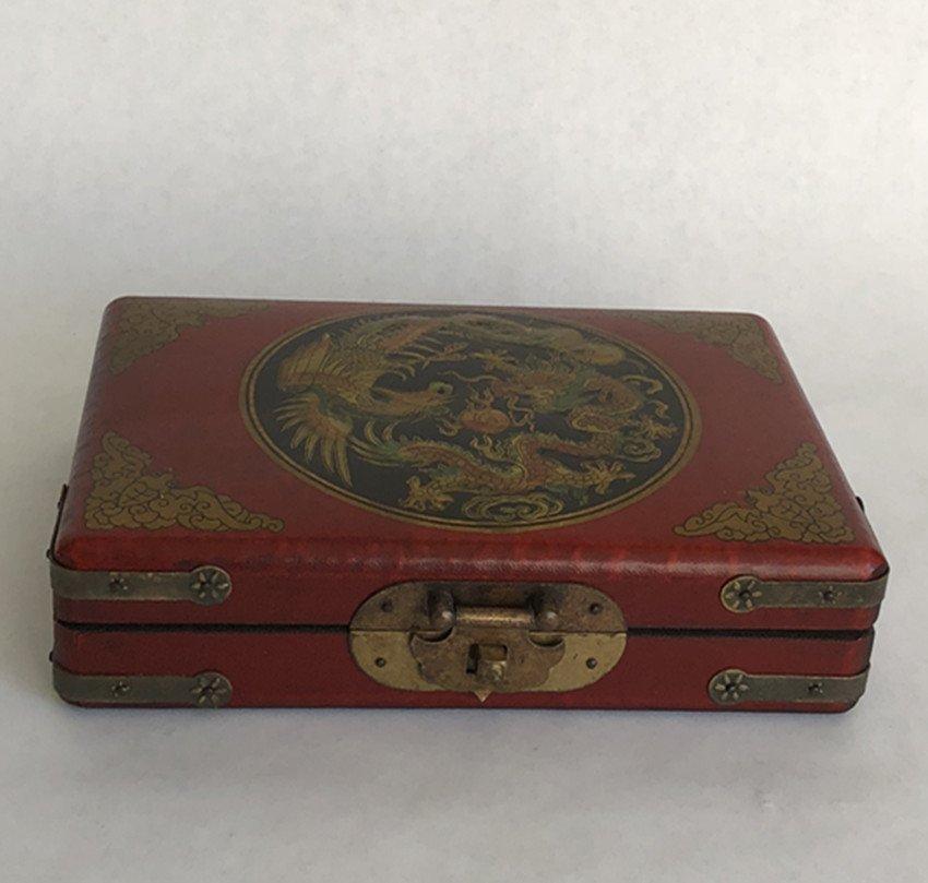 20th century, Chinese sheepskin,Erlongxizhu jewelry box
