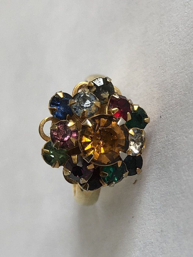 Gem & Crystal and 14k yellow gold ring - 2