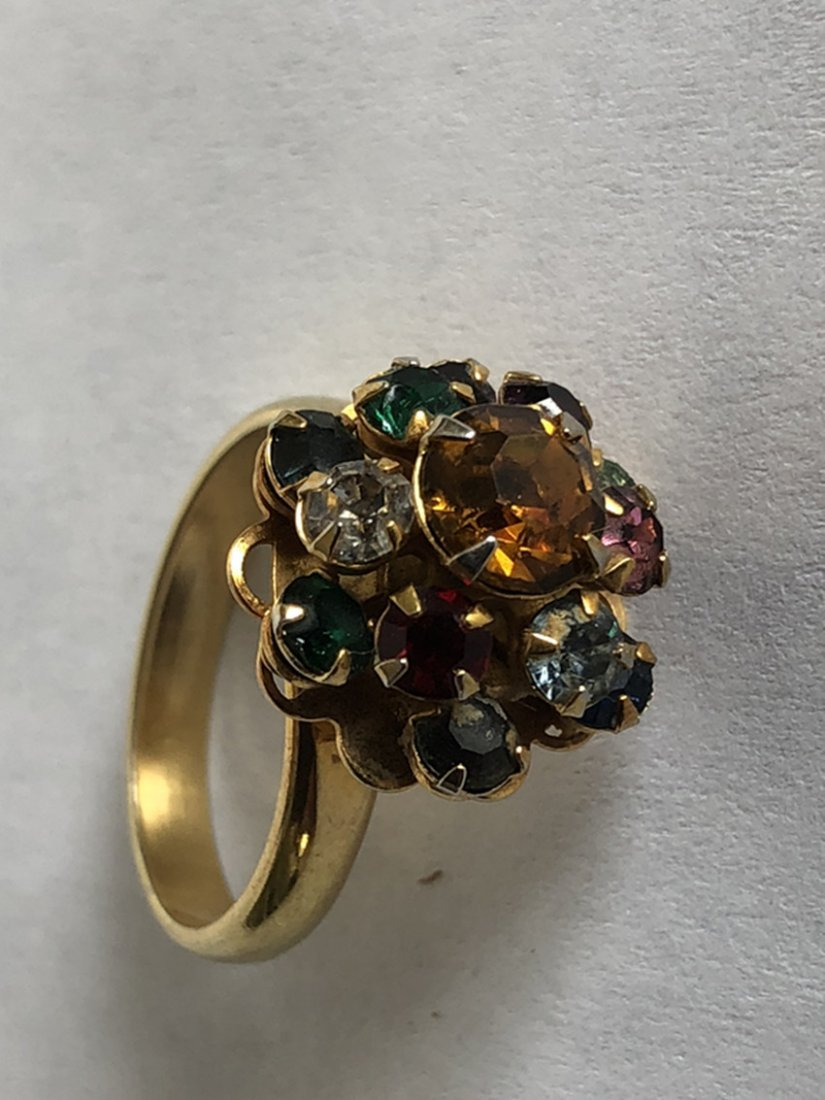 Gem & Crystal and 14k yellow gold ring - 3