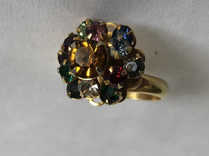 Gem & Crystal and 14k yellow gold ring - 4