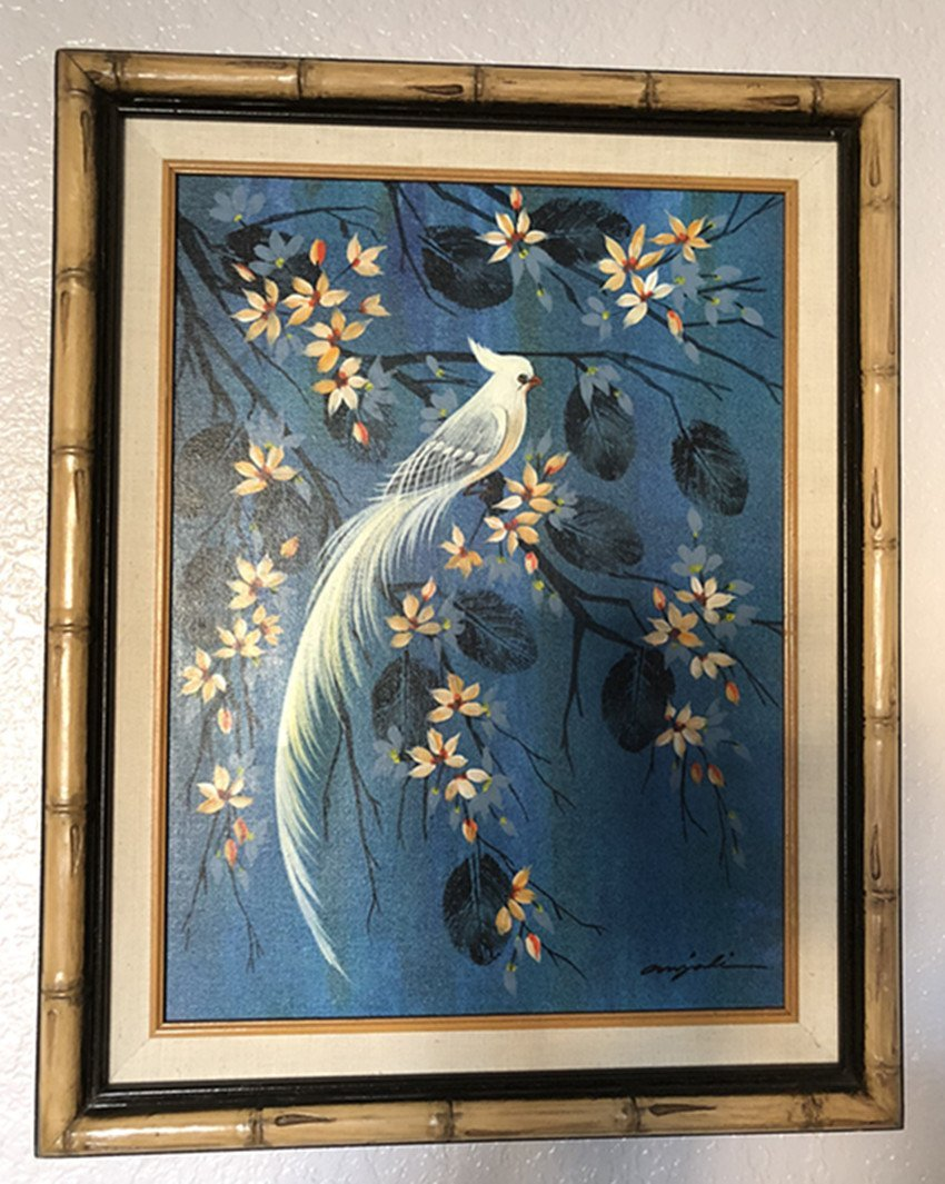 Oil painting Flowers and birds