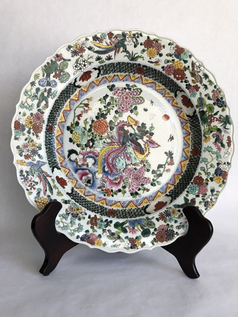 Chinese porcelain, 19th century pastel large plate