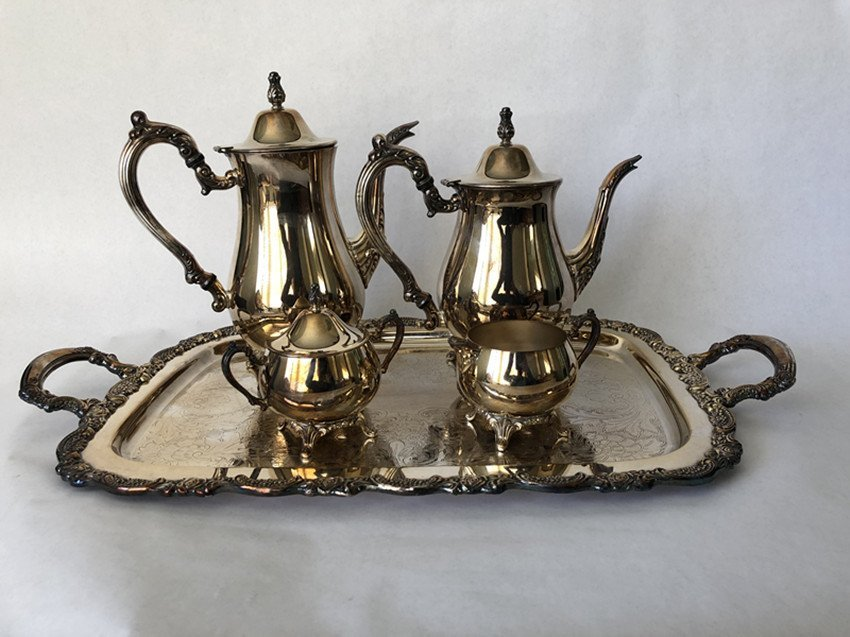 European silver tea set 5 pieces