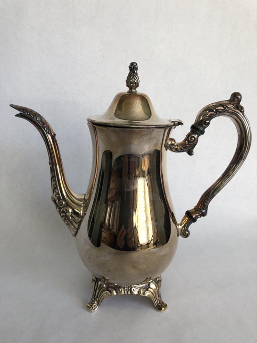 European silver tea set 5 pieces - 6