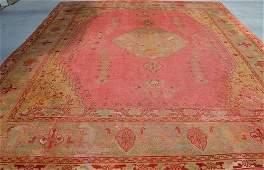 19th century Fine Antique Oushak Turkey Rug,