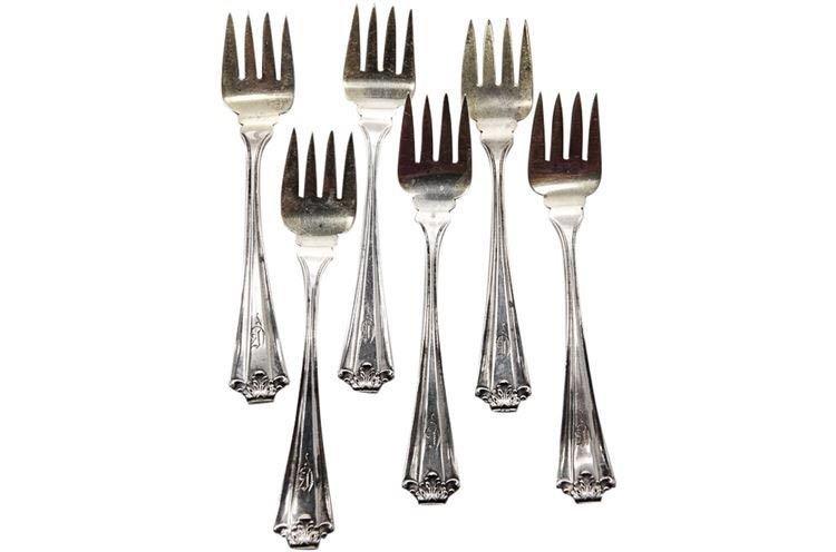 Set of Six Sterling Silver Forks