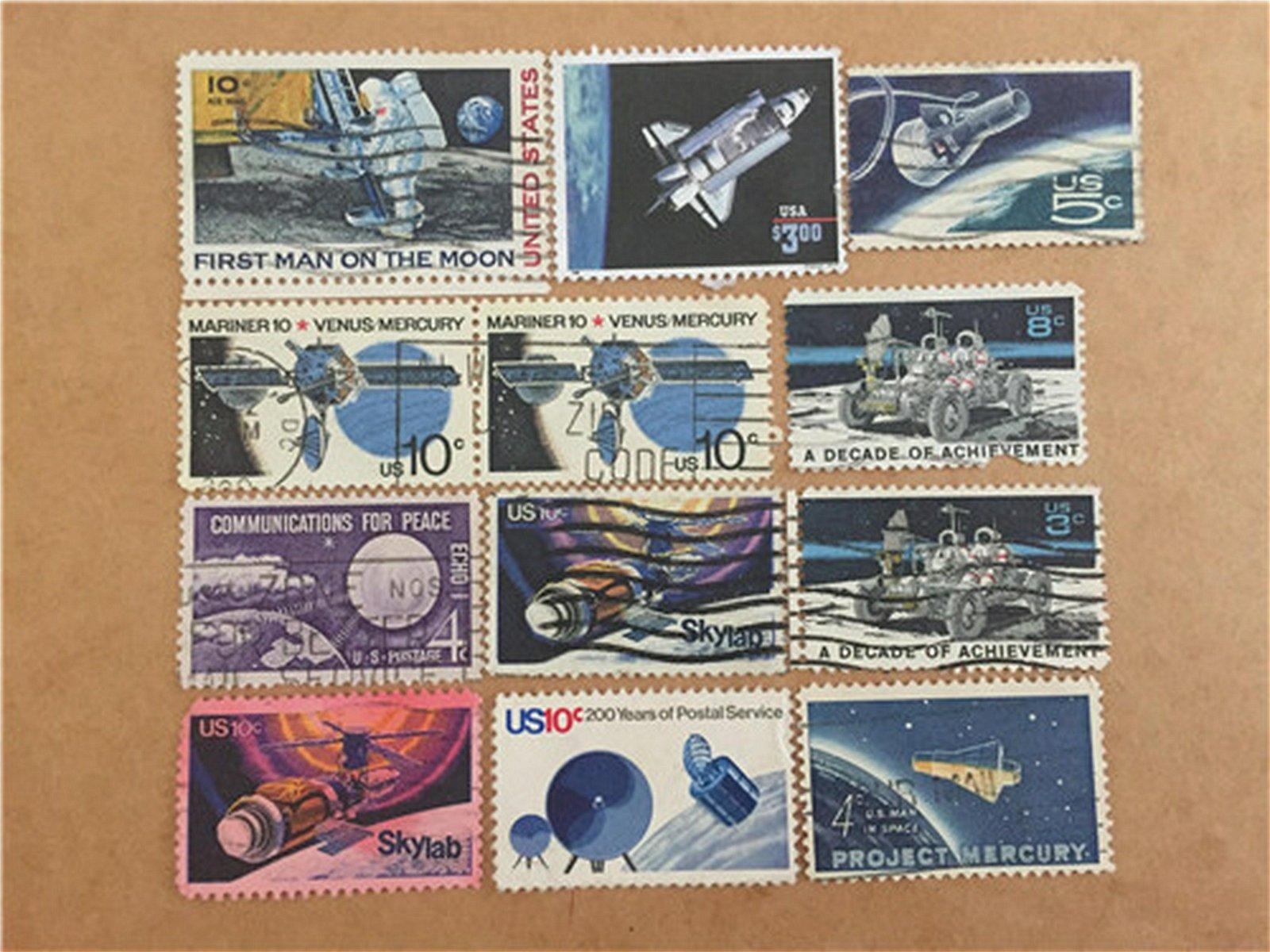 United States Postage Aerospace  Set of 12