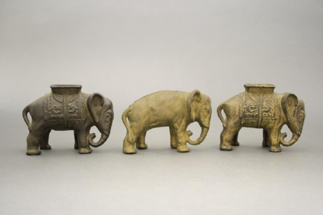 Lot: Three Elephants