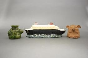 Lot: Three Ceramic Banks
