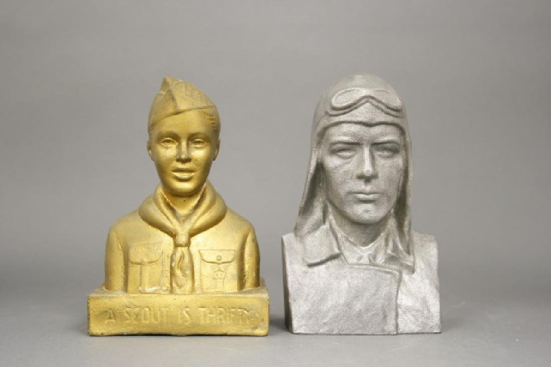 Lot: Two Bank Busts