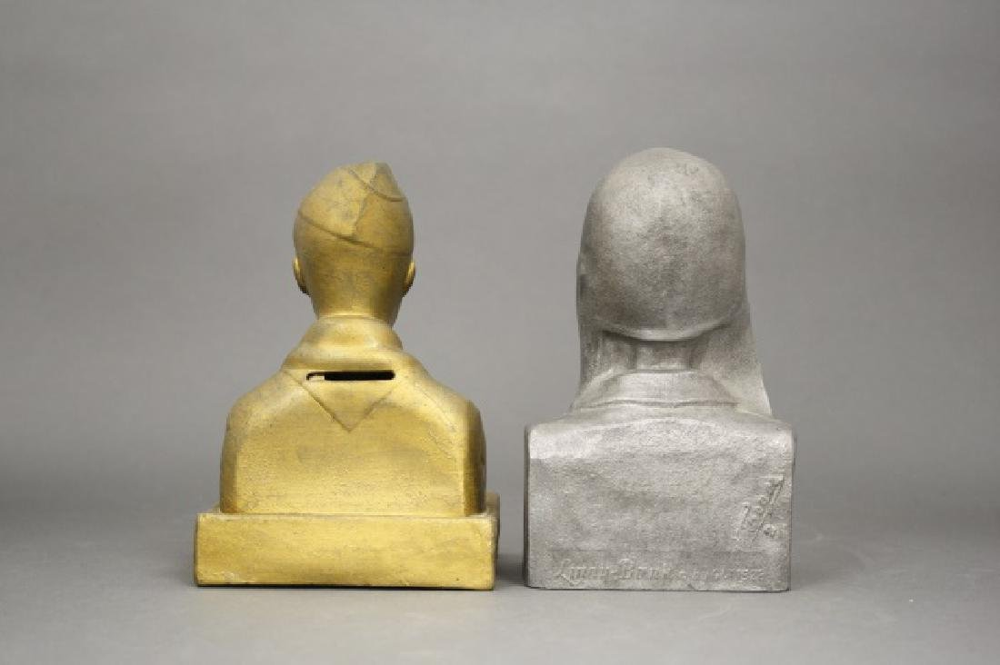 Lot: Two Bank Busts - 2