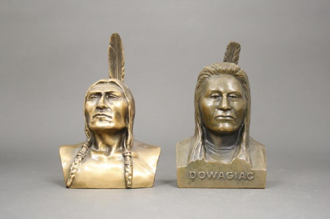 Lot: Two Native American Busts