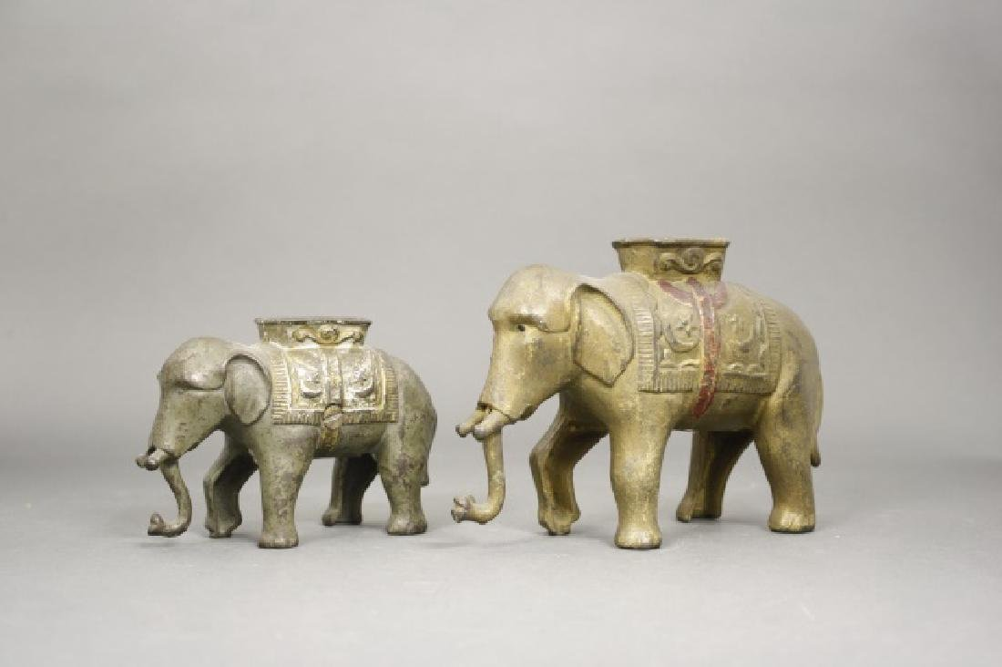Lot: Two Elephants