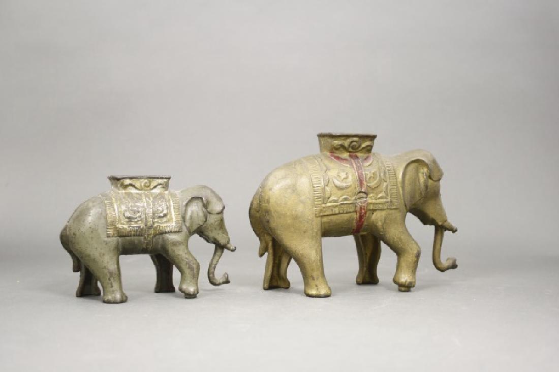 Lot: Two Elephants - 2
