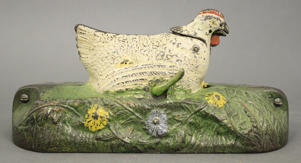 White Hen and Chicks Mechanical Bank - 2
