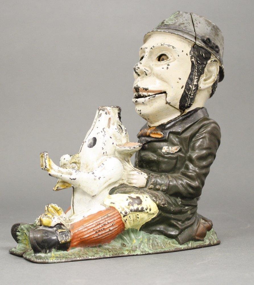 Paddy and the Pig, Green Coat Mechanical Bank - 2