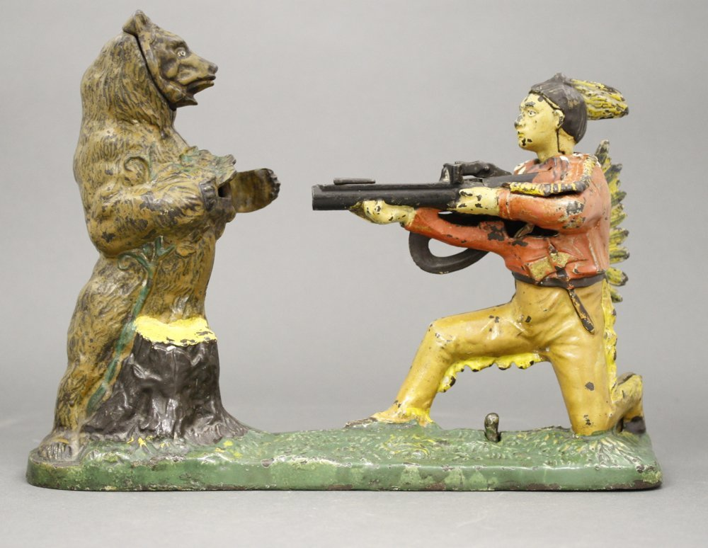 Indian and Bear Mechanical Bank