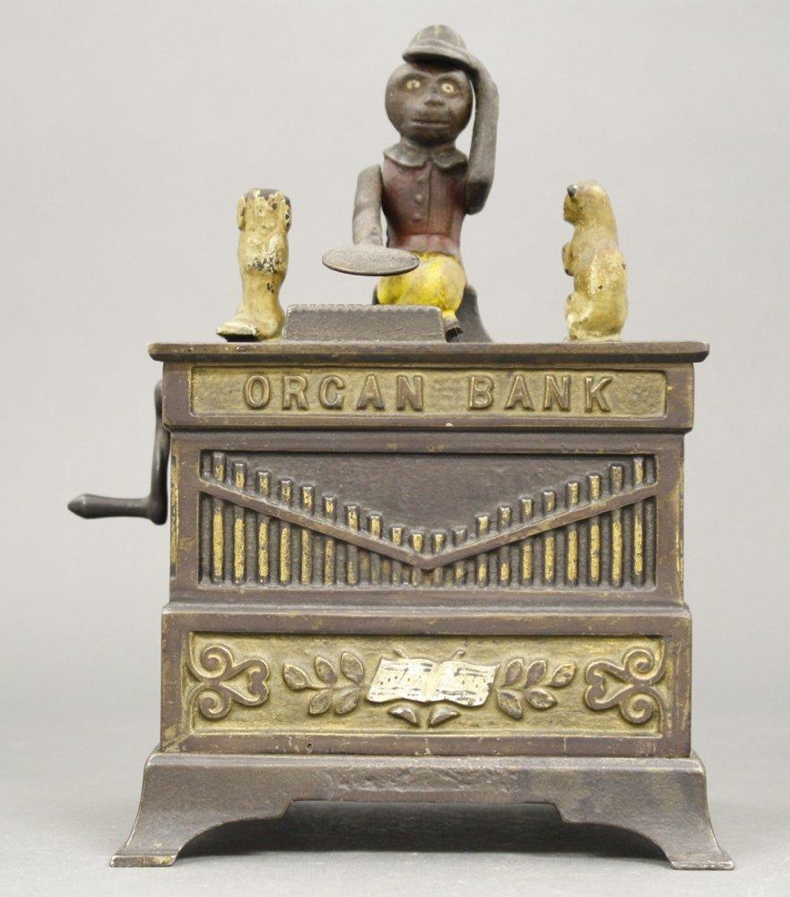 Organ, Cat & Dog Mechanical Bank
