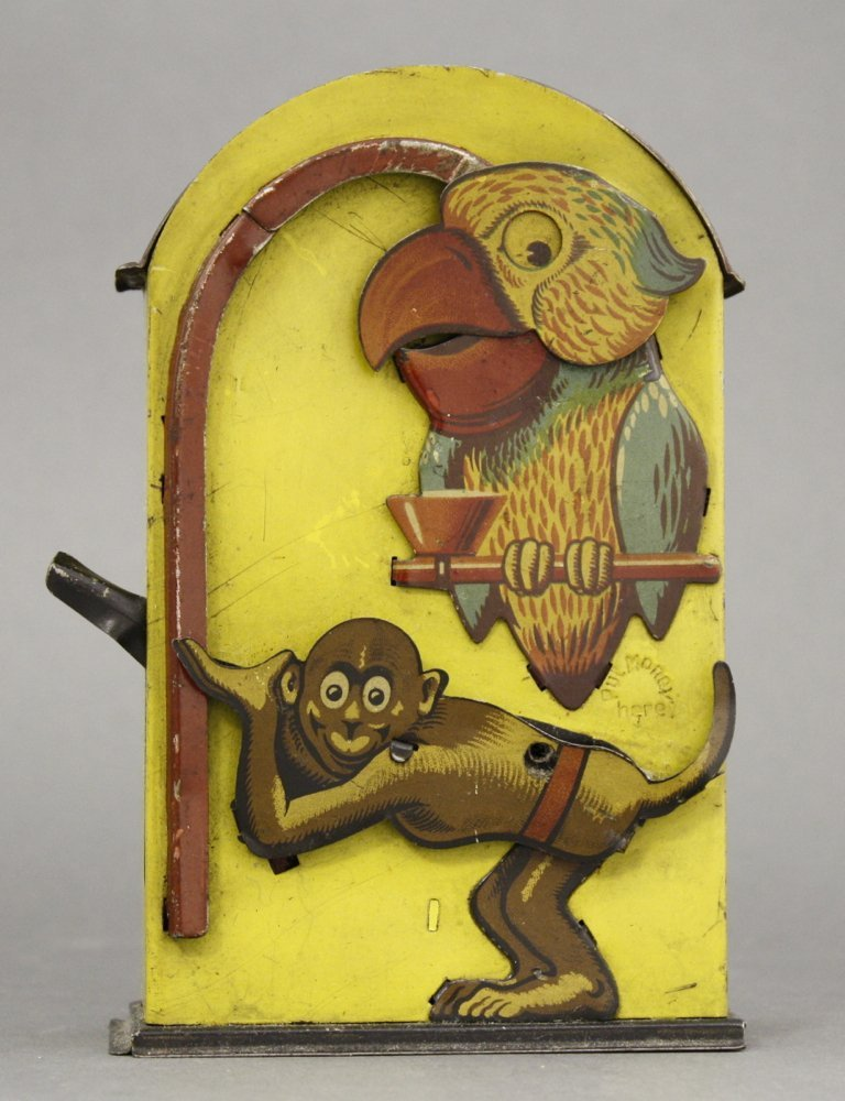 Monkey and Parrot Mechanical Bank