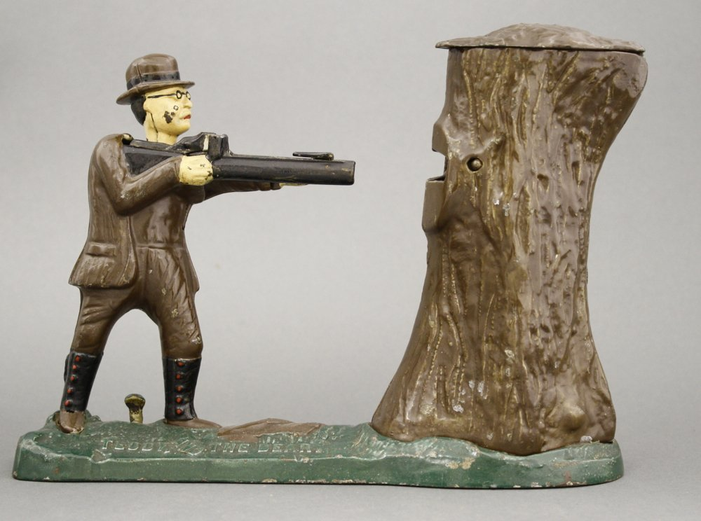Teddy and the Bear Mechanical Bank
