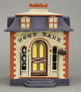 Home Mechanical Bank with Dormers