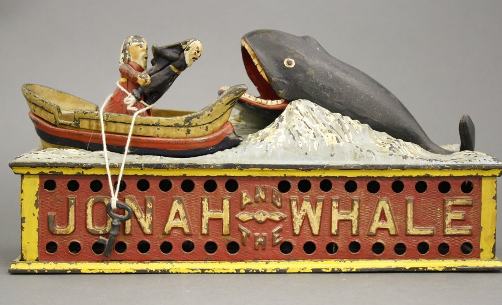 Jonah and the Whale Mechanical Bank
