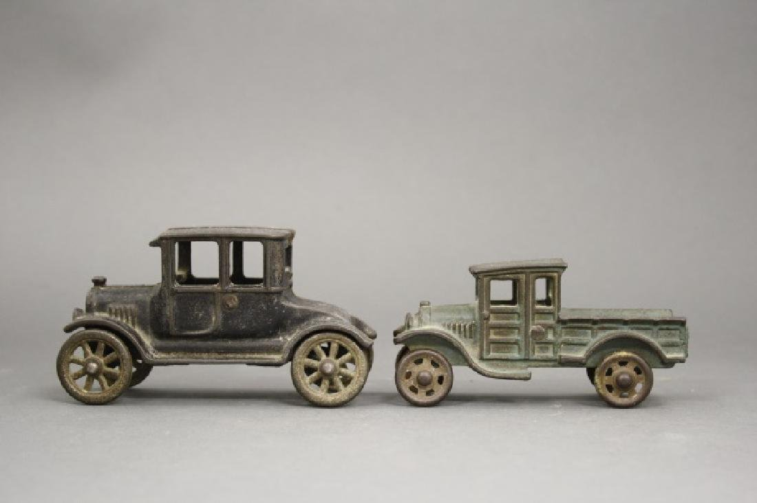 Lot: Flatbed Truck and Model A Coupe