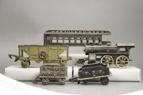 Lot: Cast Iron Train Cars