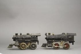 Lot: Two Windup Locomotives