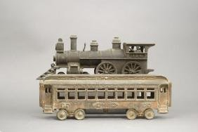 Locomotive and Passenger Car