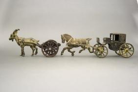 Lot: Landau and Goat Cart