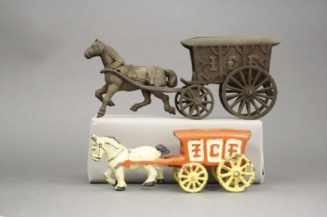 Lot: Two Ice Wagons