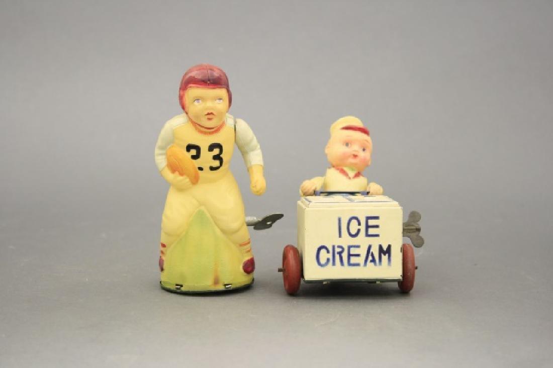 Lot: Ice Cream Vendor, Football Player