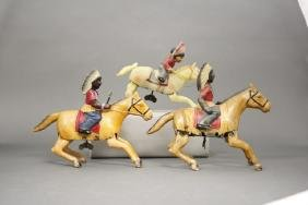 Lot: Three Indians on Horseback