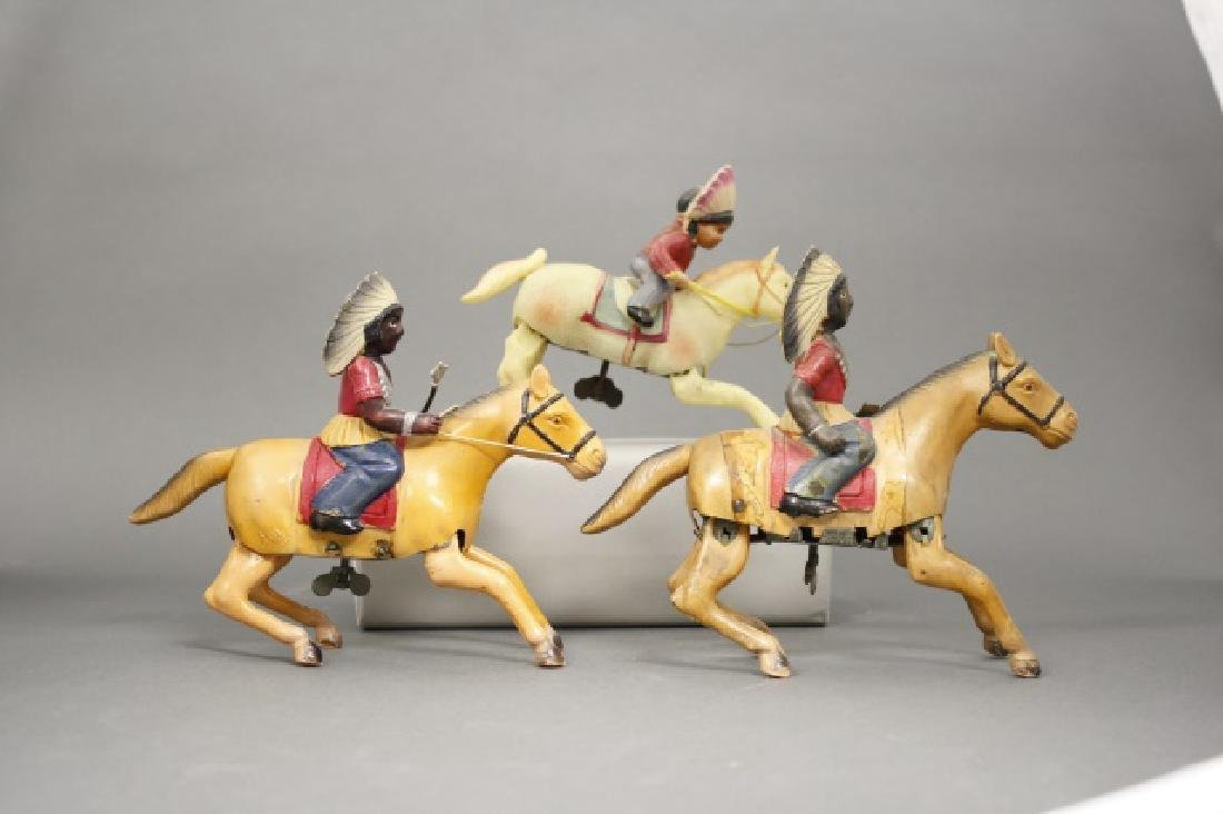 Lot: Three Indians on Horseback