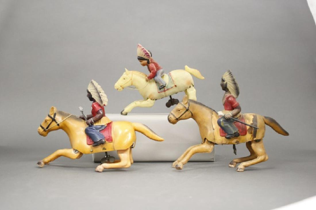 Lot: Three Indians on Horseback - 2