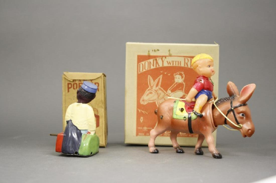 Lot: Baby Porter, Donkey with Rider - 2