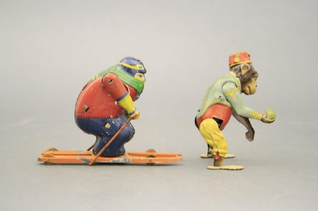 Lot: Skier, Monkey Bell Hop - 2