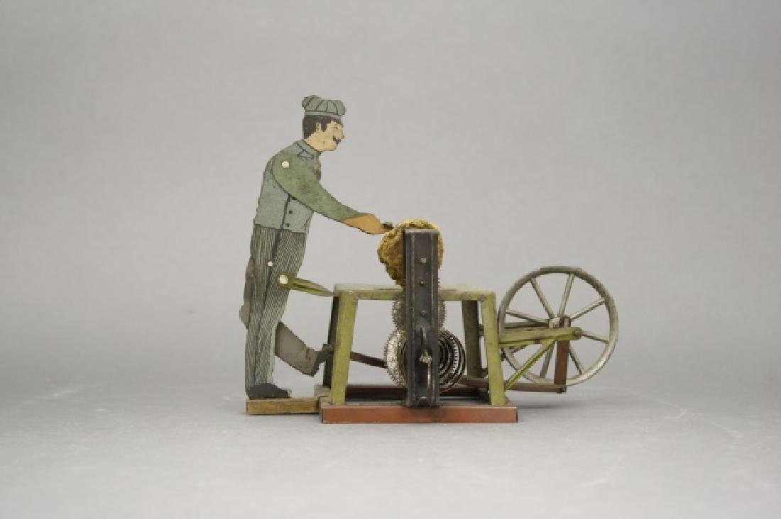 Man at Scissor Sharpener Windup Toy - 2